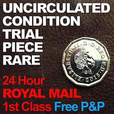 New 2017 12 Sided £1 One Pound coin Trial Piece Dated 2015 Rare UNC Uncirculated