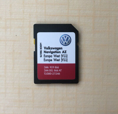 RNS 315 V11 Navigation SD card AZ for West Europe 2019 VW SEAT SKODA not for UK