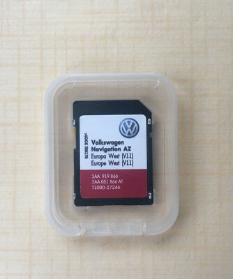Volkswagen Skoda Seat rns315 2019 SD Card MAP Update v11 Europa West Not for UK
