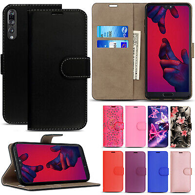 Case For Huawei P20 Pro Lite Genuine Leather Magnetic Wallet Flip Phone Cover