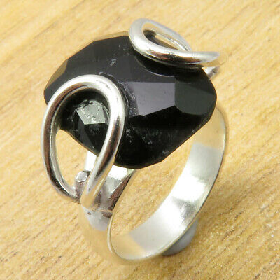 Amazing Black Onyx Size 6.5 Ring ANTIQUE LOOK Silver Plated Jewelry ONLINE STORE