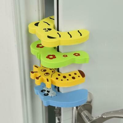 4 Pcs Pack Baby Safety Animal Door Stop Finger Pinch Guard CLSV 01
