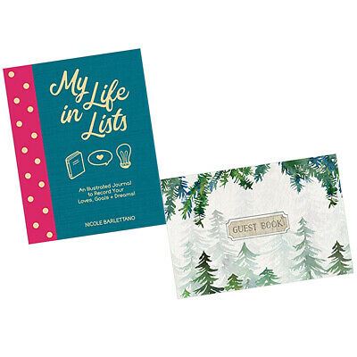 My Life in Lists An Illustrated,Guest Book Cabin Edition 2 Books Collection Set