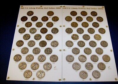 NICE GRADE Complete FULL Set 65 Coins WALKING LIBERTY HALF DOLLAR 1916 - 1947 D
