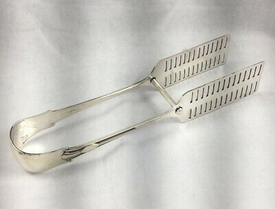 """Onslow by Mappin & Webb Sheffield, 1903 English Sterling Asparagus Tongs- 8 1/4"""""""
