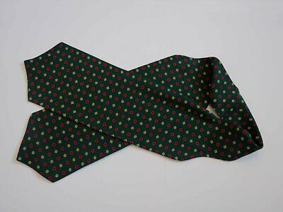 Green Rayon Cravat by Tootal - 1950s