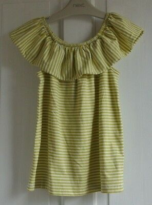 New Next girls top Lime.white stripe age 4 years