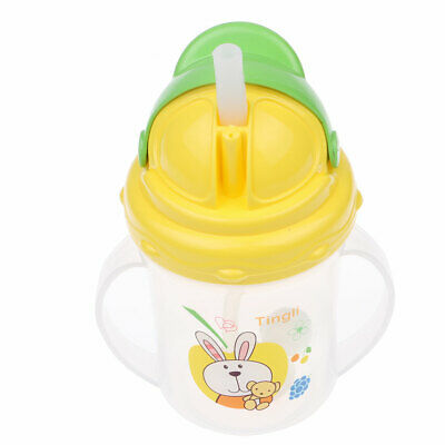 NEW 150ML Baby Feeding Bottle Water Milk Drinking Bottle Sippy Suction Straw Cup