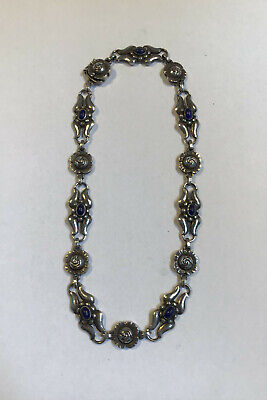 Georg Jensen Sterling Silver Necklace with Lapis Lazuli No 10
