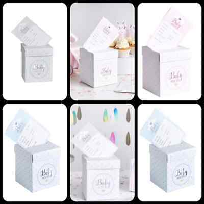Oh Baby Prediction Cards & Post Box Set, Gift Baby Shower Game,1 box 20 Cards UK