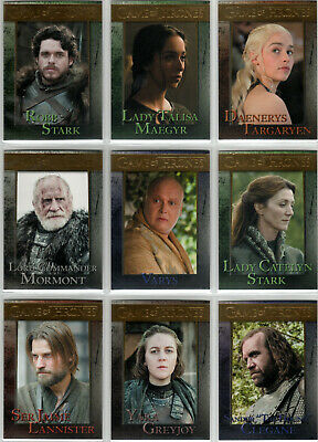 Game Of Thrones Season 3 Gold Parallel Base Trading Card Set (1-98) #'D Xxx/150