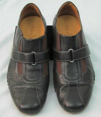 be2e9ddbe COLE HAAN Air Estadio Model Dark Brown Leather Strap Sneakers Shoes Size 8  EUC