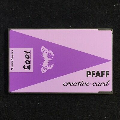Pfaff Personal Embroidery Designs Re-writable Creative Card for 7570 7560