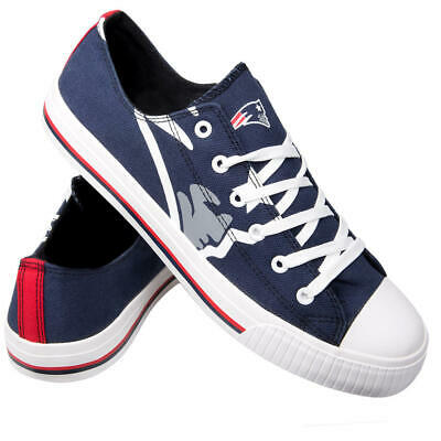 Wholesale NEW ENGLAND PATRIOTS Mens 9 Shoes Sneakers FOCO Low Tops Canvas Navy  hot sale