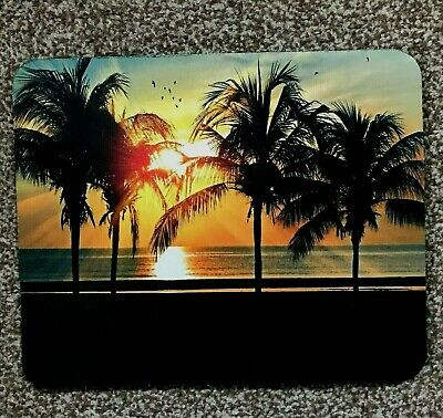 Caribbean sunset mouse mat desktop laptop mouse pad made in UK