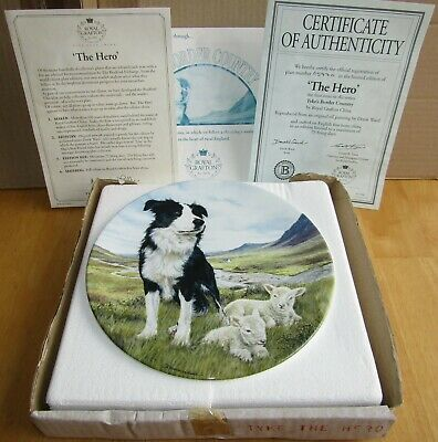 BRADEX TYKE'S BORDER COUNTRY COLLECTOR PLATE THE HERO Sheepdog; Boxed with certs
