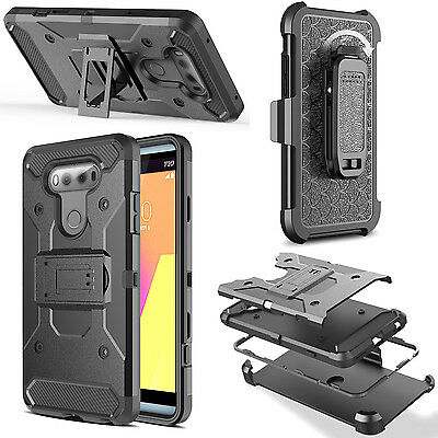 For LG G6 Cover,Shockproof Rugged Hybrid Armor Case With Stand Holster Belt Clip
