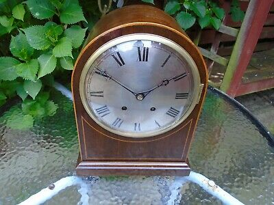 ( W&H?) German Quality Ting Tang  Fully Restored Mahogany Cased Bracket Clock