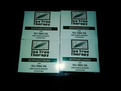 Tea Tree Therapy Suppositories For Vaginal Hygiene 12 Boxes Of 6