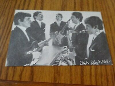 Dave Clark Five Exhibit Post Card With Mike Smith