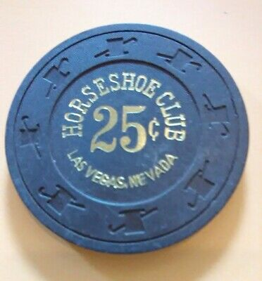 1980s HORSESHOE CASINO LAS VEGAS, NEVADA .25 CENT CHIP GREAT FOR COLLECTION # 1.