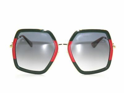 d40376a1b6319 Gucci GG0106S 0106S 007 Green Red Gold Grey gradient Sunglasses 0106