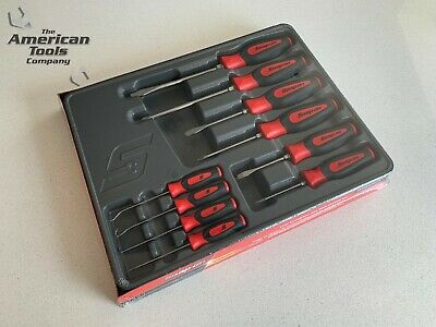 *NEW* Snap On 10-pc Red Screwdriver Awl, Hook & Pick Set SGDX60204CR