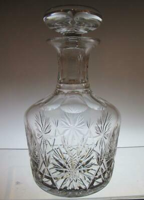 "Edinburgh Crystal ""Star of Edinburgh"" Round Wine Decanter, Early Script Mark"