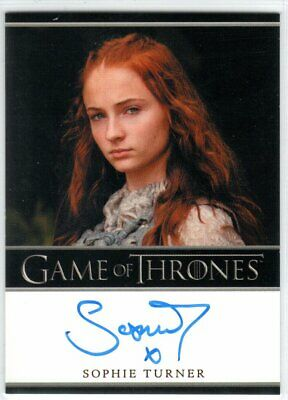 Game Of Thrones Season 3 Sophie Turner As Sansa Stark Bordered Autograph