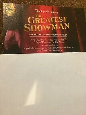 The Greatest Showman OST soundtrack official digital download code MP3 new