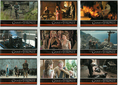 Game Of Thrones Season 4 Base Trading Card Set (1-100)