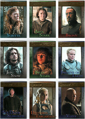 Game Of Thrones Season 4 Gold Parallel Base Trading Card Set (1-100) #'D Xxx/150