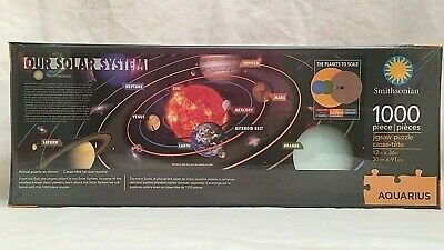 Our Solar System Aquarius Jigsaw Puzzle 1000 pcs Smithsonian Space NEW