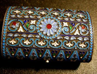Important Imperial Russian Khlebnikov Imperial Warrant Enameled Cigarette Case .