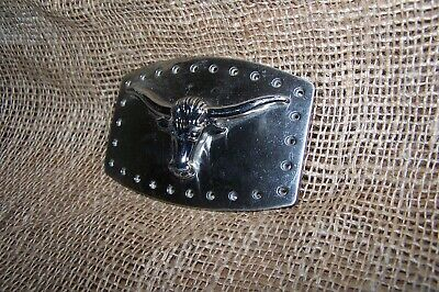 Cowboy Cowgirl Western Ranch Rodeo Long Horn Belt Buckle