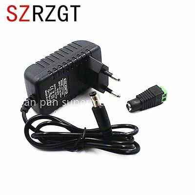 Adapter AC100-240V Lighting Transformers DC12V 2A Power Supply+Connector