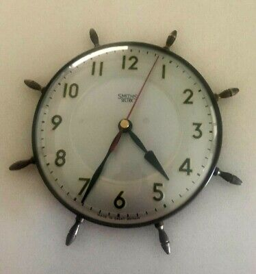 Vintage Retro Smiths Sectric Nautical Ship/Sunburst Battery Operated Wall Clock