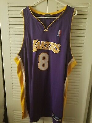 fd6c446854d Authentic Kobe Bryant  8 Los Angeles Lakers Jersey Reebok Men s Size 56