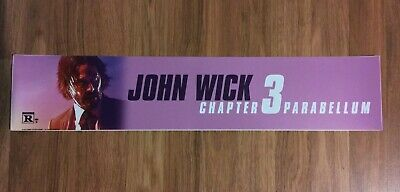 💥 JOHN WICK CHAPTER 3: PARABELLUM - Movie Theater Poster / Mylar - LARGE 5x25