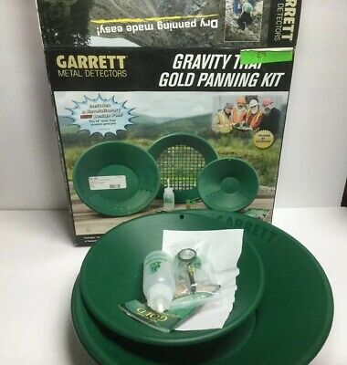 Garrett  Gravity Gold Panning Kit Green New
