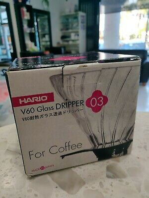 HARIO V60 Heat resistant glass transparent coffee dripper 03 coffee drip VDG-03B