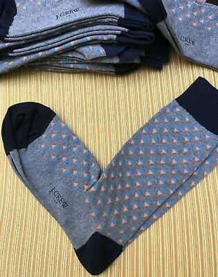 Men's Genuine J CREW Gray Modern Design Lightweight Dress Socks NEW/No Tag 9-11