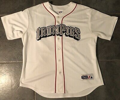 Nwt Majestic Lehigh Valley Ironpigs Baseball Short Sleeve Jersey Womens Xl Sports Mem, Cards & Fan Shop