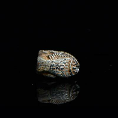 A royal Egyptian Steatite Fish Amulet, 18th Dynasty, reign of Thutmose III, ca.