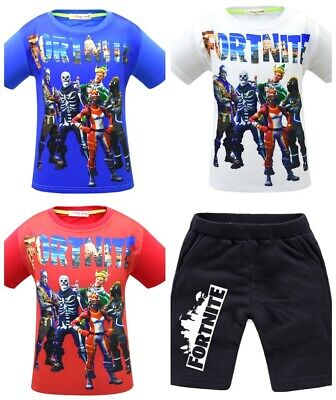 Pajamas Fort Tee Shirt Pullover Tops Cosplay Toddle Boys Kids Game Performance