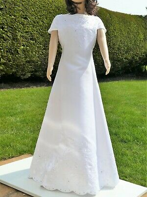 meet new images of cheap prices MARKS & SPENCER AUTOGRAPH* Girls White Satin COMMUNION DRESS ...