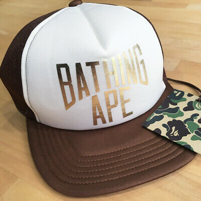 864297b1 NEW BAPE A BATHING APE BABY MILO mesh cap trucker hat MEN'S FREE MADE IN  JAPAN