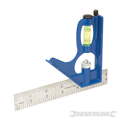 Combination Try Square Set Right Angle Ruler 150mm Mini Adjustable by SILVERLINE