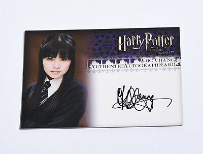 Katie Leung Cho Chang - Autograph Card - Harry Potter And Order Of The Phoenix