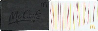 2 McDonald's $0 Value Collectible Gold Gift Cards